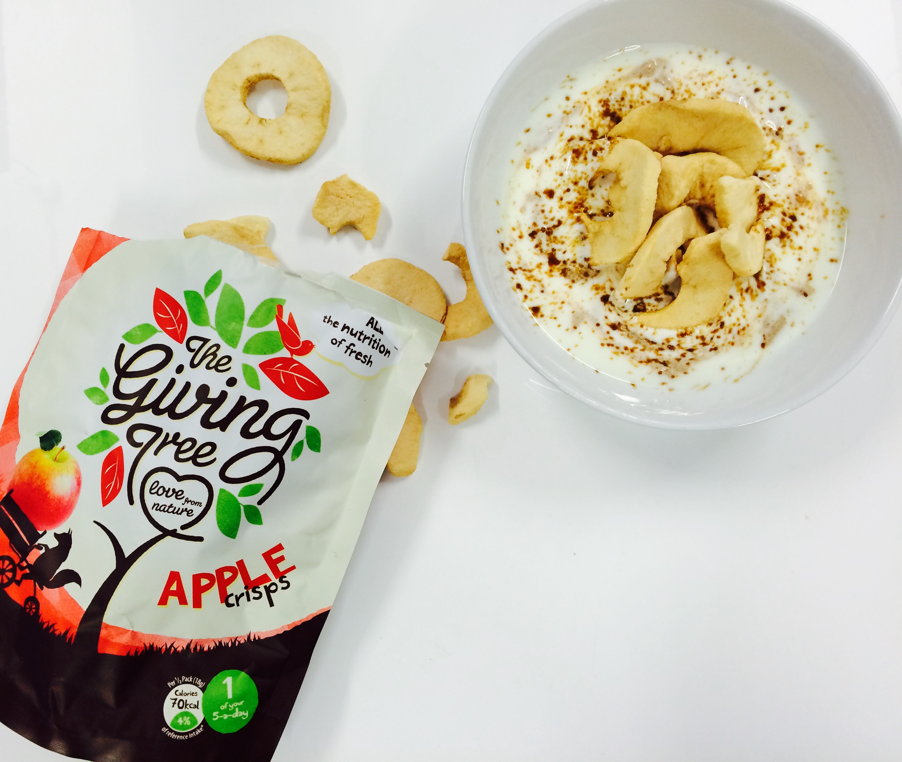 apple and peanut b snack