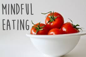 Mindful eating tomatoes