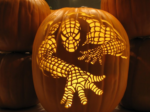 spiderman-pumpkin-carving-design